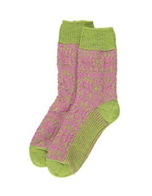 Deerberg Socken Sterne grün-pink