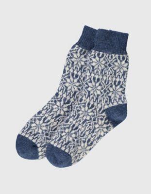 Deerberg Socken Sterne jeans-beige