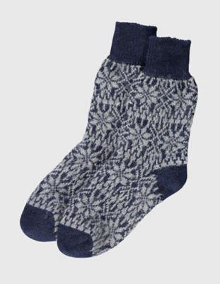 Deerberg Socken Sterne marine-grau