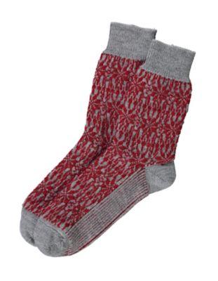 Deerberg Socken Sterne grau-rot