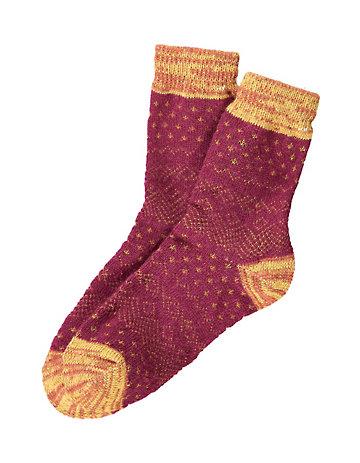 Crönert Socken Aribella dunkelrot
