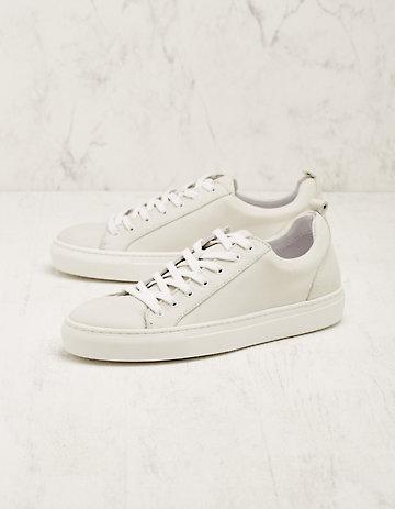 Deerberg Leder-Sneaker Toshi creme