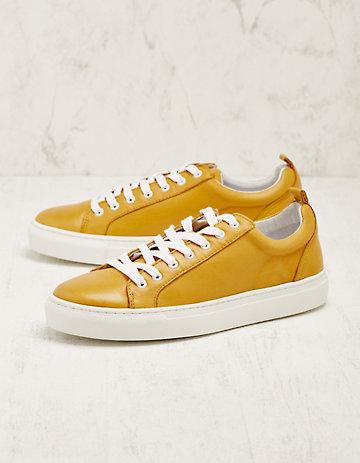 Deerberg Leder-Sneaker Toshi senf