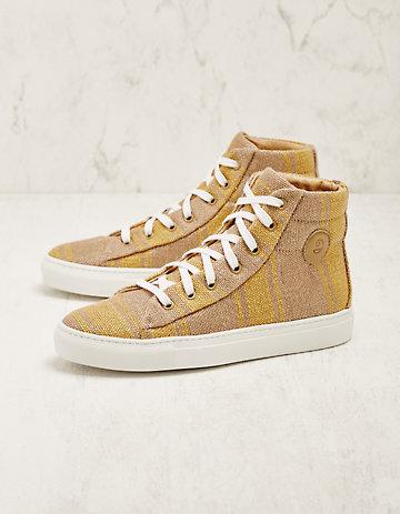 Deerberg Jute-High-Sneaker Vinzenta gelb