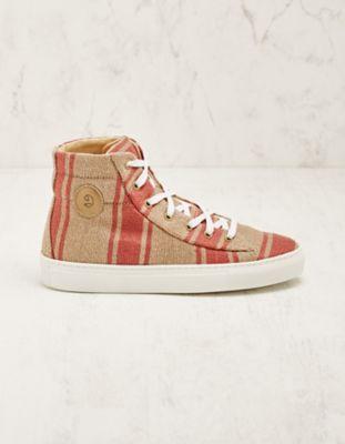 Deerberg Jute-High-Sneaker Vinzenta rot