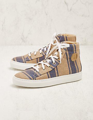 Deerberg Jute-High-Sneaker Vinzenta blau