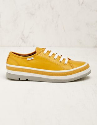 Wolky Leder-Sneaker Minoa curry