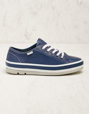 Wolky Leder-Sneaker Minoa jeansblau