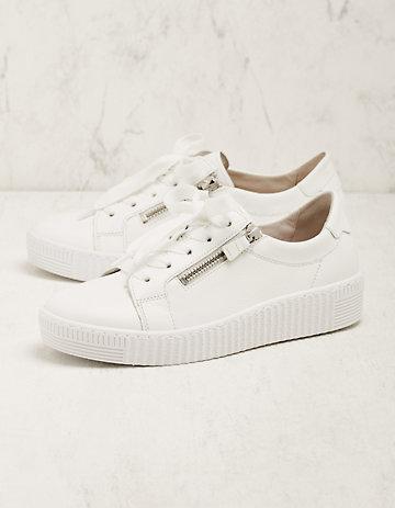 Gabor Leder-Sneaker Laquita weiß