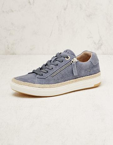 Jana Leder-Sneaker Sergia jeans
