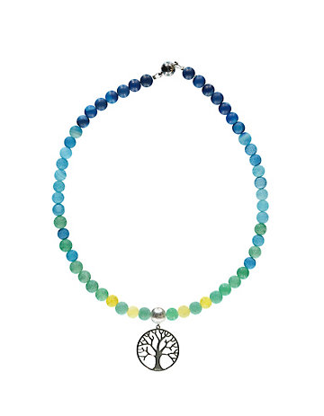 Deerberg Kette Baum des Lebens türkis