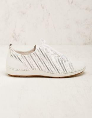 Jana Leder-Sneaker Torilla weiß