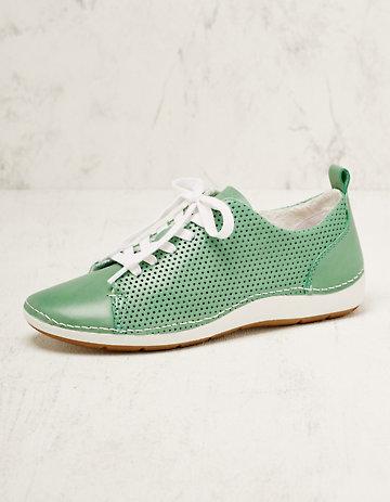 Jana Leder-Sneaker Torilla grün