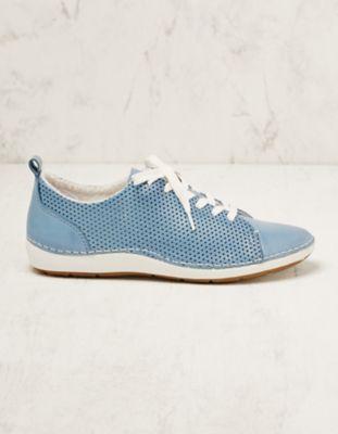 Jana Leder-Sneaker Torilla blau