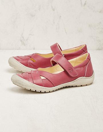 Deerberg Leder-Spangenschuhe Ortlinde pink