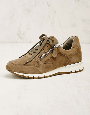 Caprice Leder-Sneaker Rayleen oliv