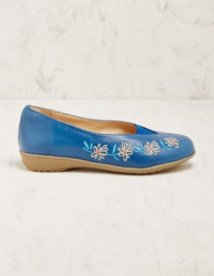 Deerberg Leder-Slipper Solenne blau