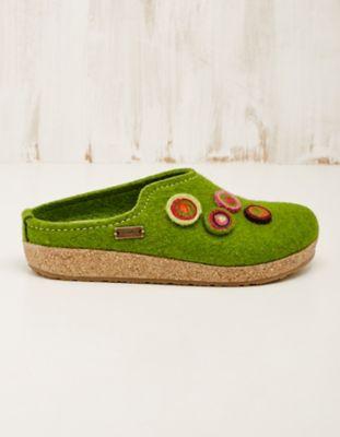 Haflinger Filz-Hausschuhe Jalinda grün