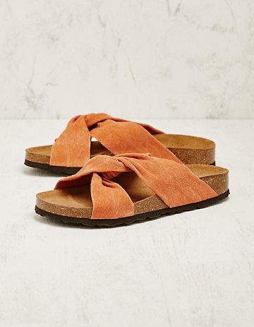 Deerberg Stoff-Pantoletten Agatina orange