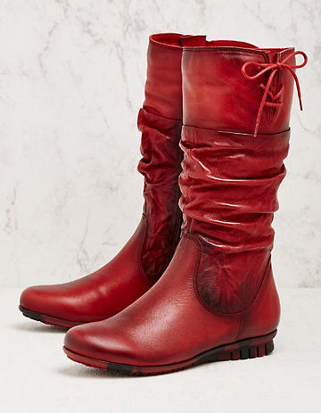 Softwaves Stiefel Blomma rot