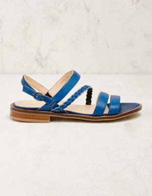 Werner Schuhe Leder-Sandalen Duva blau