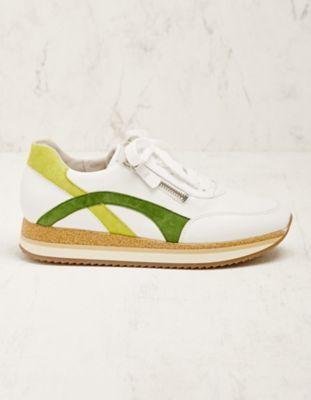 Gabor Leder-Sneaker Madsine grün-weiß