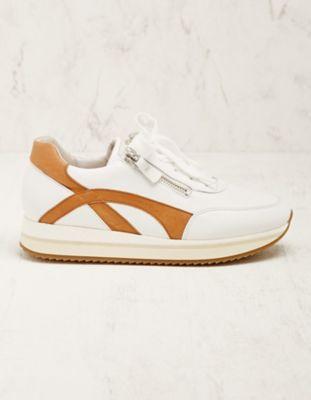 Gabor Leder-Sneaker Madsine braun-weiß