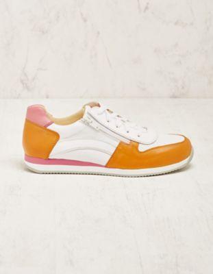 Deerberg Leder-Sneaker Vollina orange