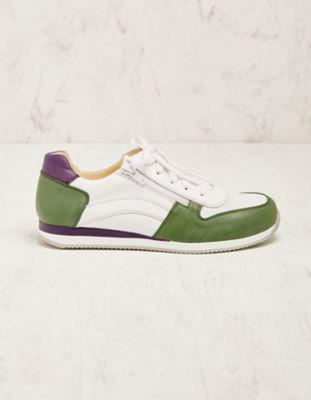 Deerberg Leder-Sneaker Vollina grün
