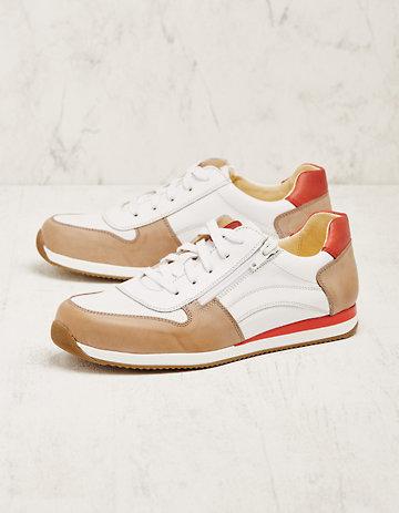 Deerberg Leder-Sneaker Vollina taupe