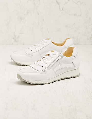 Deerberg Leder-Sneaker Wiba weiß