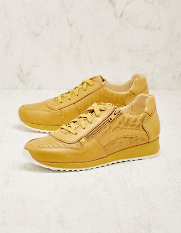 Deerberg Leder-Sneaker Wiba gelb