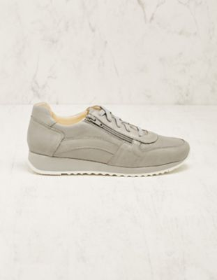 Deerberg Leder-Sneaker Wiba hellgrau