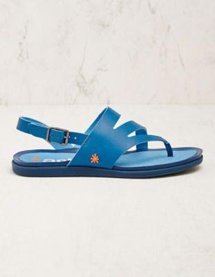 art Leder-Sandalen Amsina blau