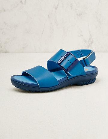art Leder-Sandalen Eleta blau