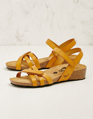 Plakton Leder-Sandalen Sighild gelb
