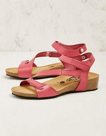 Plakton Leder-Sandalen Roselinde pink