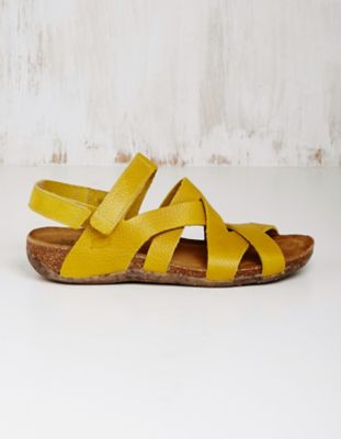 Loints of Holland Leder-Sandalen Loxana gelb