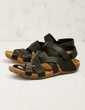 Loints of Holland Leder-Sandalen Loxana schwarz