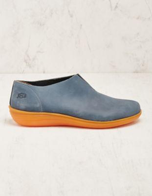 Loints of Holland Leder-Slipper Anselma jeansblau