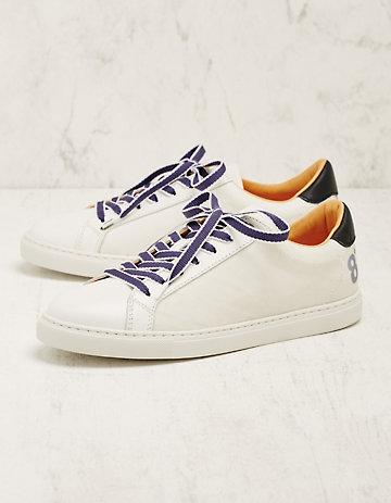 8 beaufort.Hamburg Leder-Sneaker Stefana weiß-blau