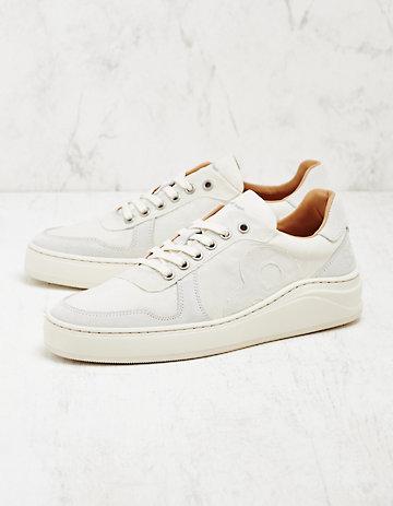 8 beaufort.Hamburg Leder-Sneaker Elde weiß