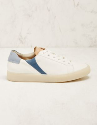 Paul Green Leder-Sneaker Elrike weiß-blau