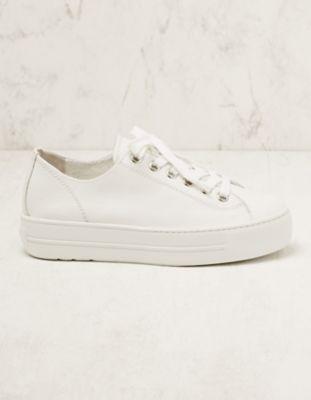 Paul Green Leder-Sneaker Binta weiß