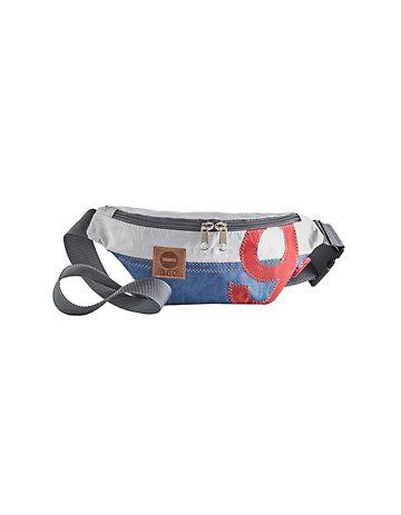 360° Tasche Bum Bag weiß-blau