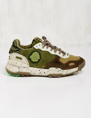 Satorisan Leder-Sneaker Usmana blattgrün