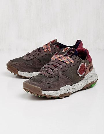 Satorisan Leder-Sneaker Usmana braun