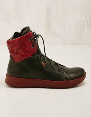Think Leder-Sneaker-High Taira schwarz-rot