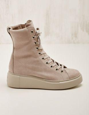 Paul Green Leder-High-Sneaker gef. Klarisse kieselsand