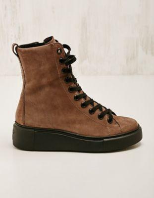 Paul Green Leder-High-Sneaker gef. Klarisse braun